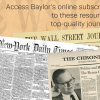 Subscription Renewal Retains Wall Street Journal for the Baylor Community