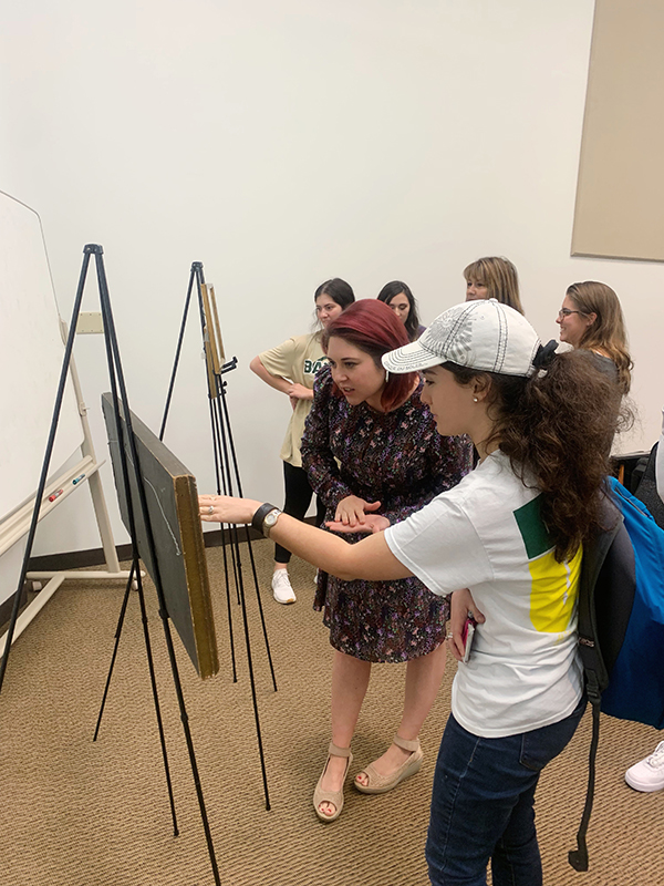 Professor White with Art History Students