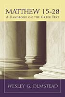 Matthew 15-28 book cover