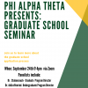 Grad School Panel and Q&A, hosted by Phi Alpha Theta