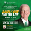 Former U.S. Secretary of State James A. Baker, III, To Speak at Chiles Lecture Series at Baylor Law
