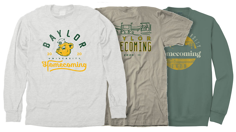 2020 Baylor Homecoming apparel