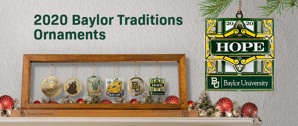 Baylor official Christmas ornaments for 2019.