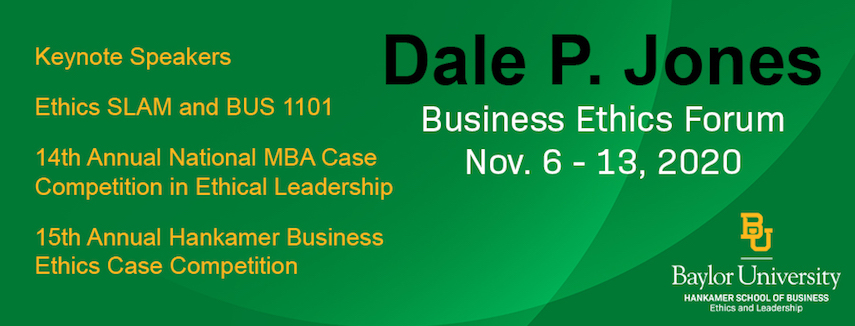 Dale Jones Business Ethics Forum