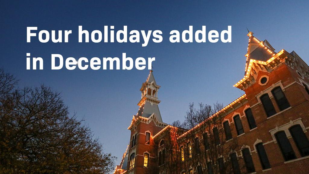 Four Holidays Added