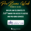 During <em>Pro Bono Week</em>, Baylor Law Celebrates its 14th Award for Access to Justice and Pro-Bono Services