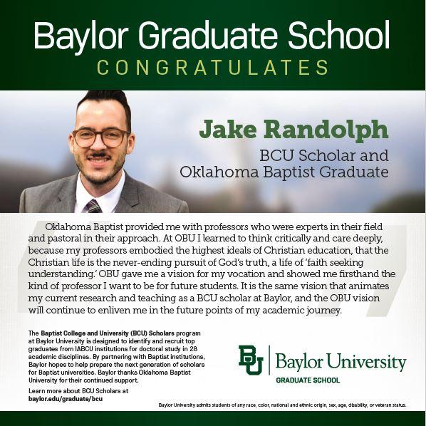 Jacob Randolph BCU Ad