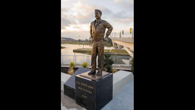 Full-Size Image: Medal of Honor Statue Col. John R. Kane