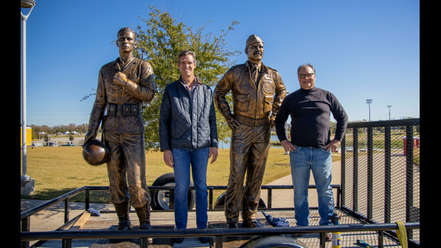 Full-Size Image: Medal of Honor Statues Haag Sherman and Dan Brook