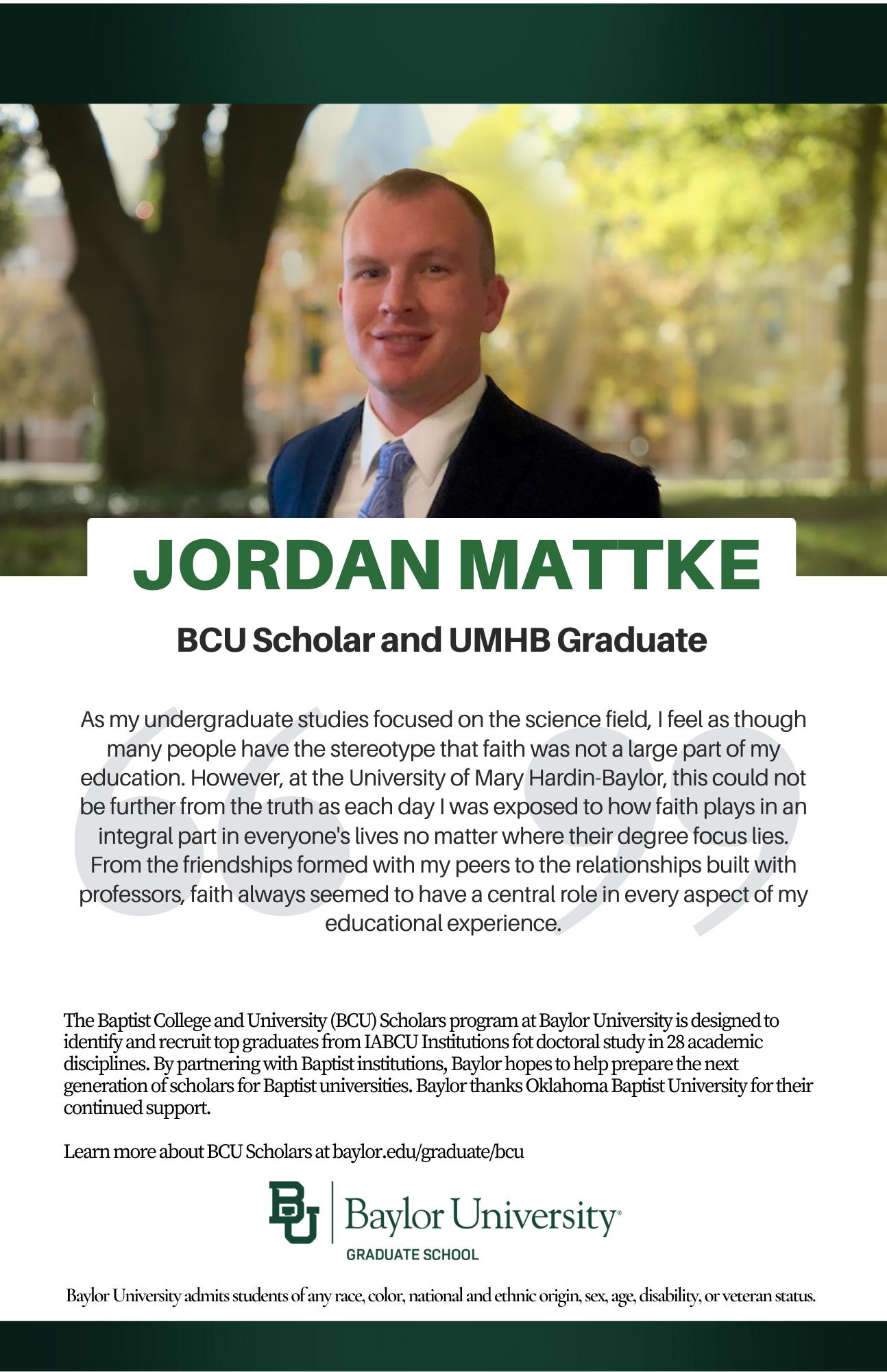Jordan Mattke BCU ad