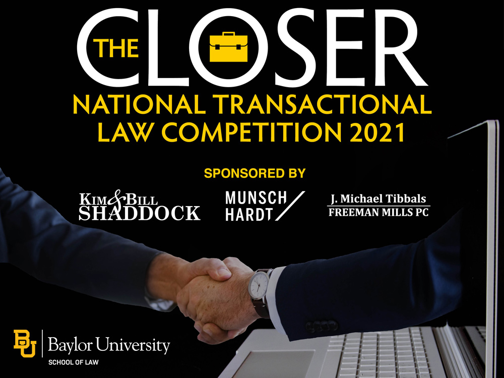 Winners Announced for The Closer, Baylor Law's Elite National Transactional Law Competition