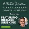The R. Matt Dawson Endowed Lecture Series Welcomes Richard Susskind