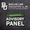Baylor Law's Executive LL.M. in Litigation Management Announces New National Advisory Panel