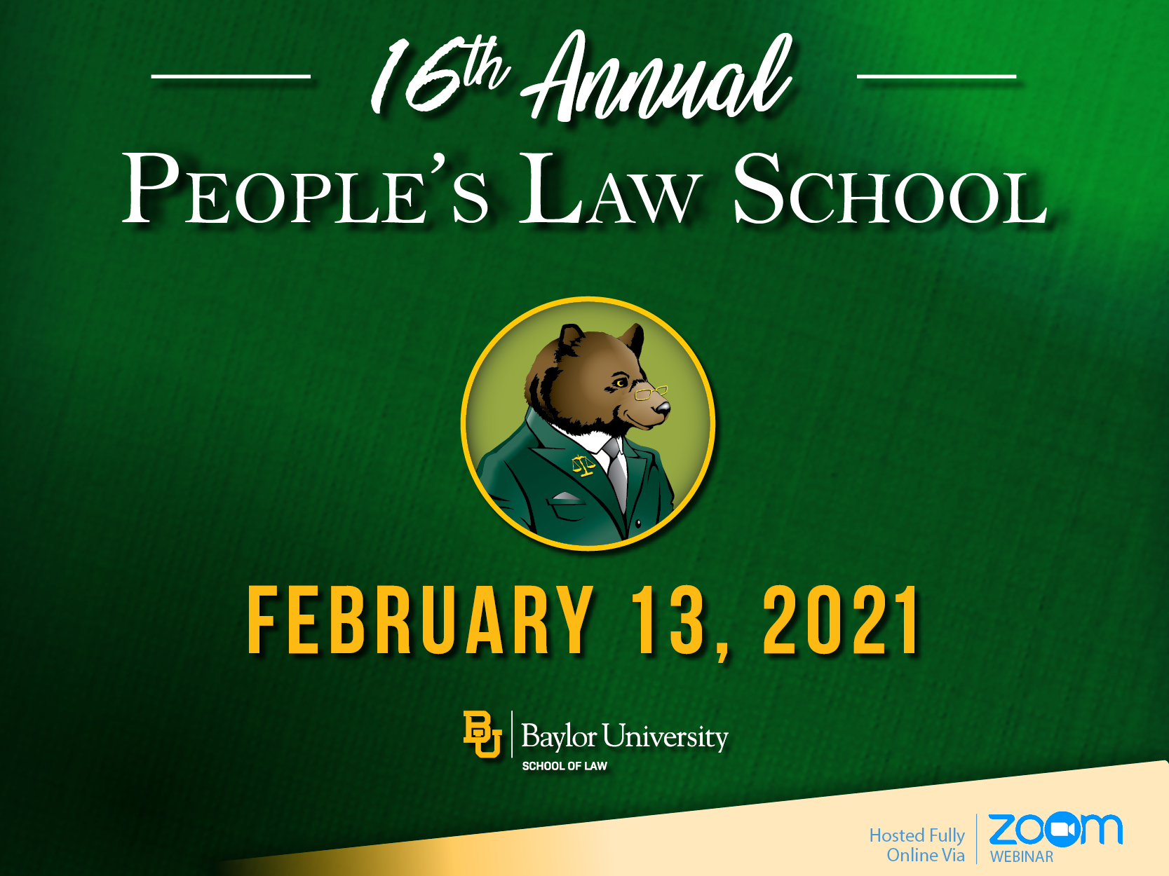 2021 People's Law School at Baylor Law