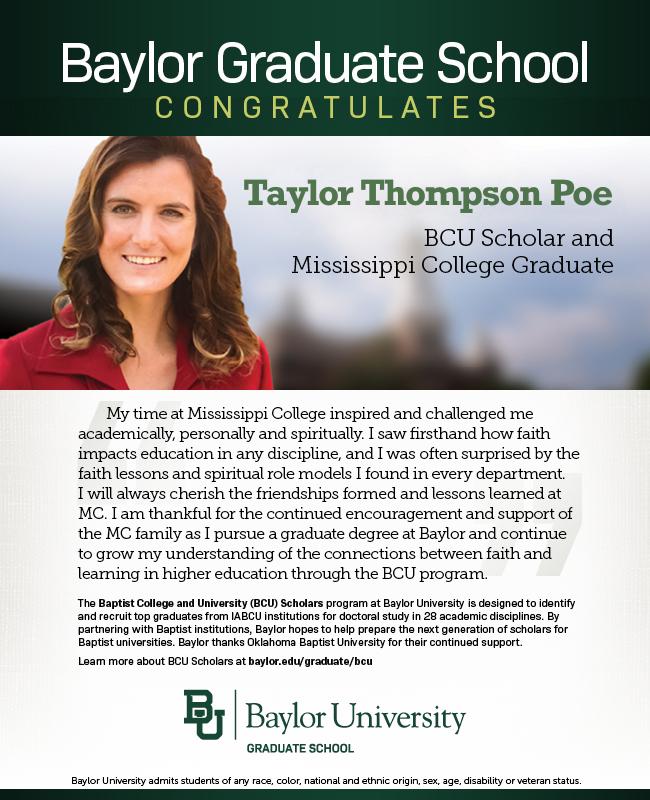 Taylor Poe BCU ad