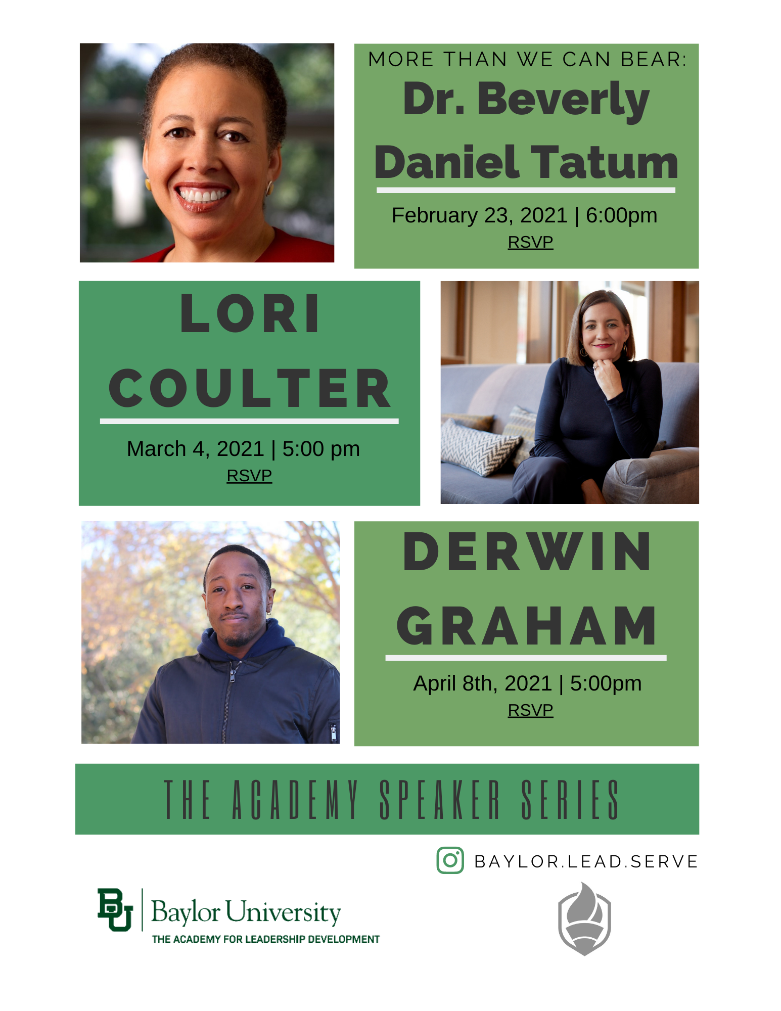 Poster for Spring 2021 Speakers