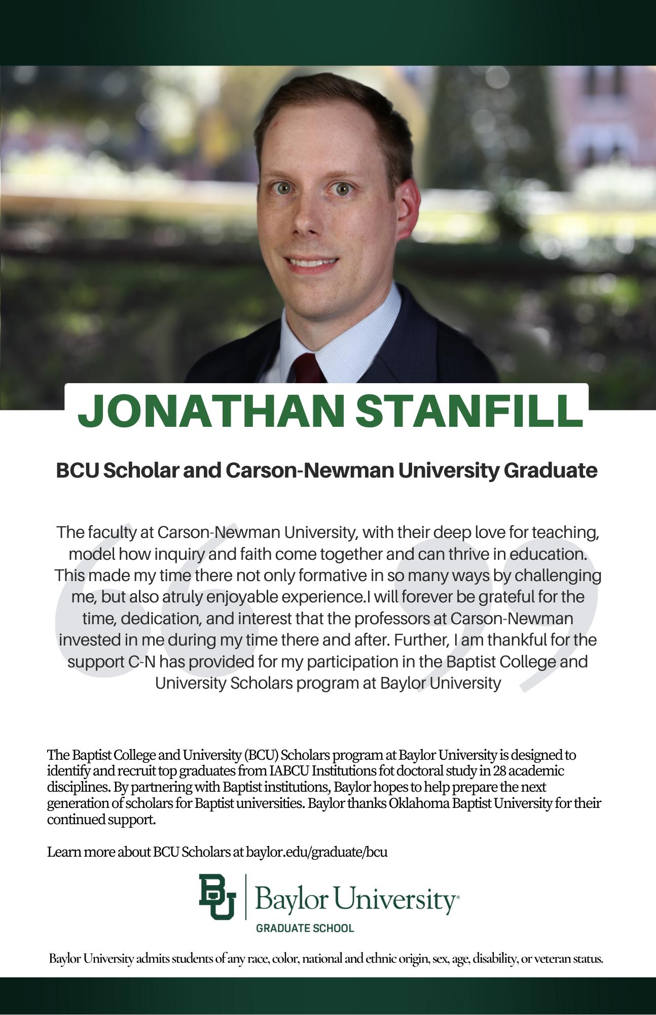 Jonathon Stanfill BCU ad