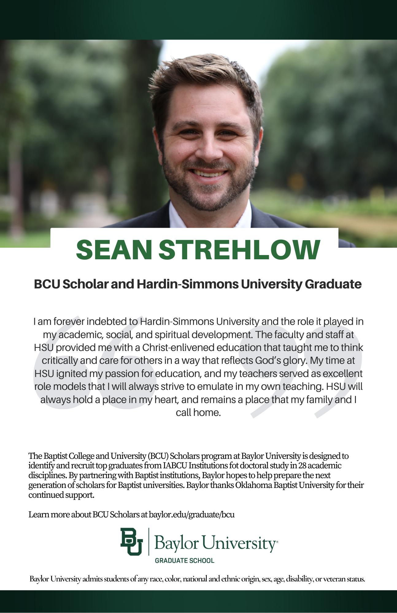 Sean Strehlow BCU ad