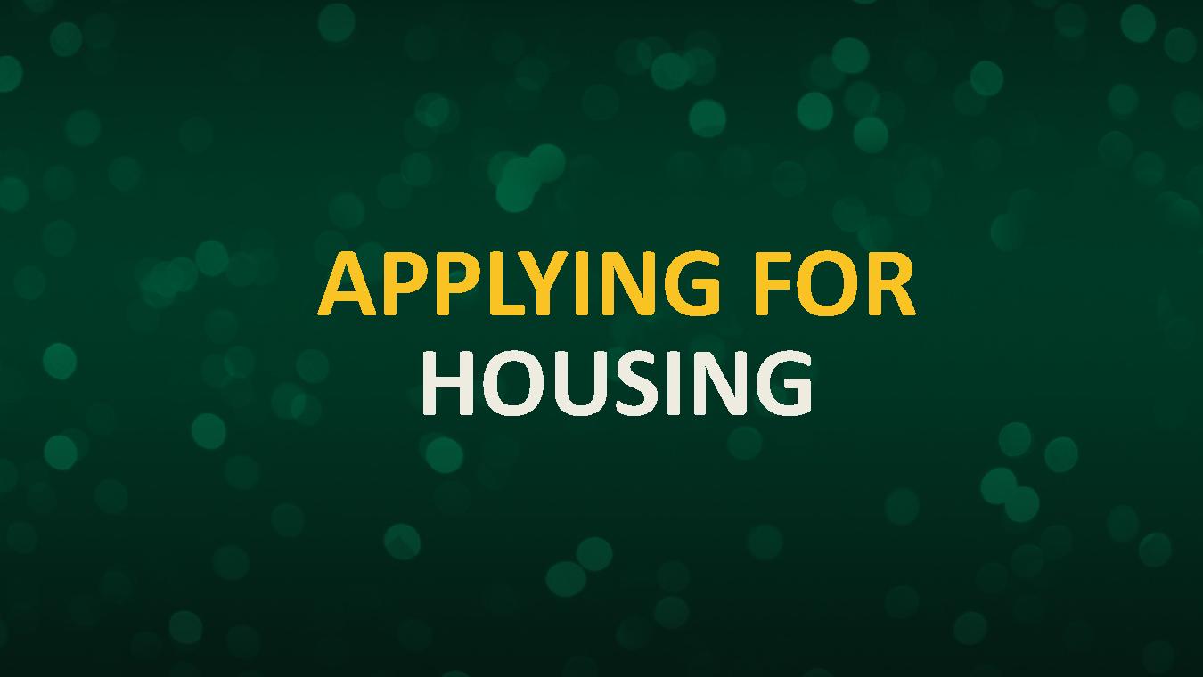 Applying for Housing