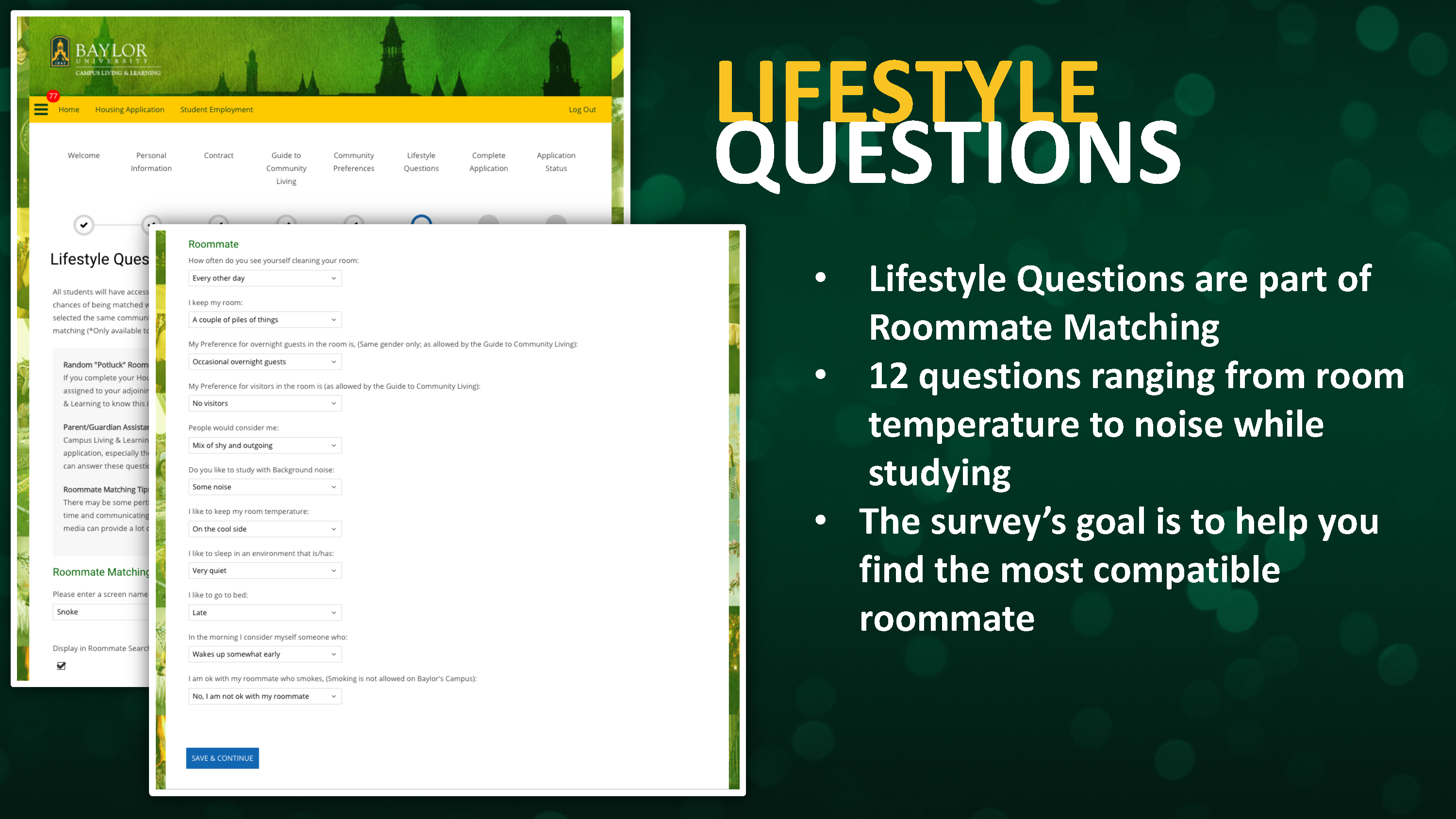 Lifestyle Questions