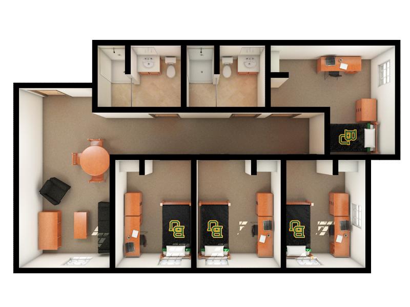 Internal of North Village Rooms