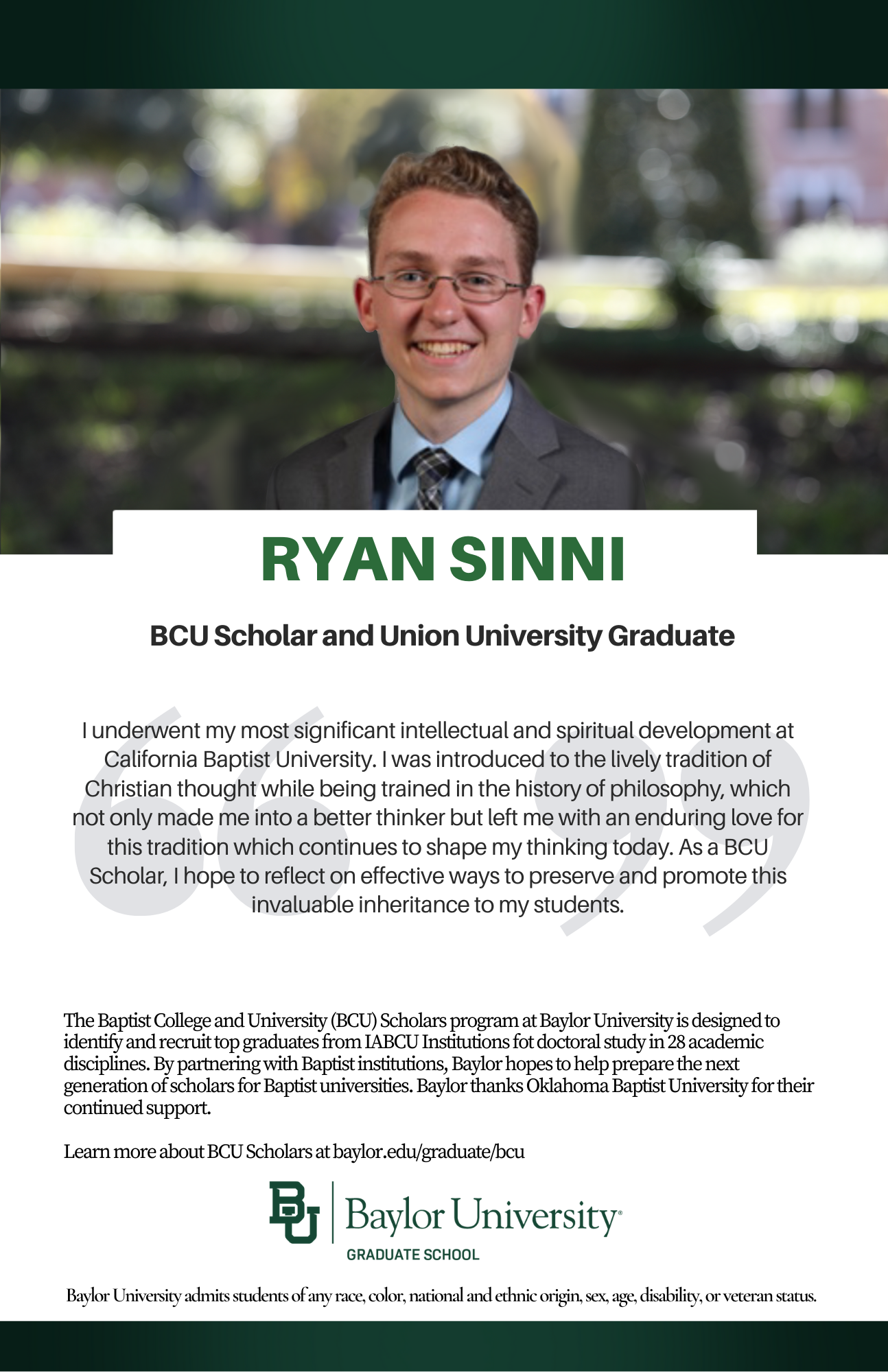 Ryan Sinni BCU ad