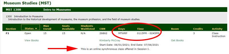 synchronous schedule