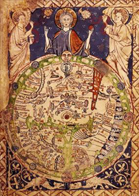 Psalter map, ca. 1250