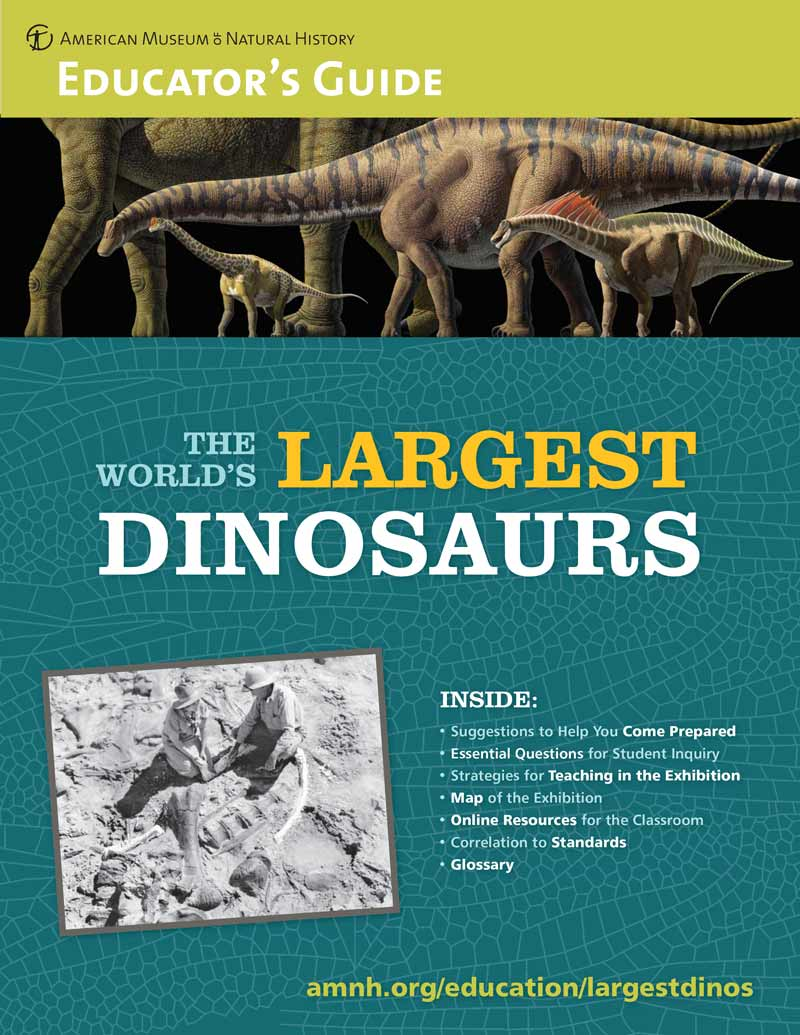 download The World's Largest Dinosaurs educator's guide