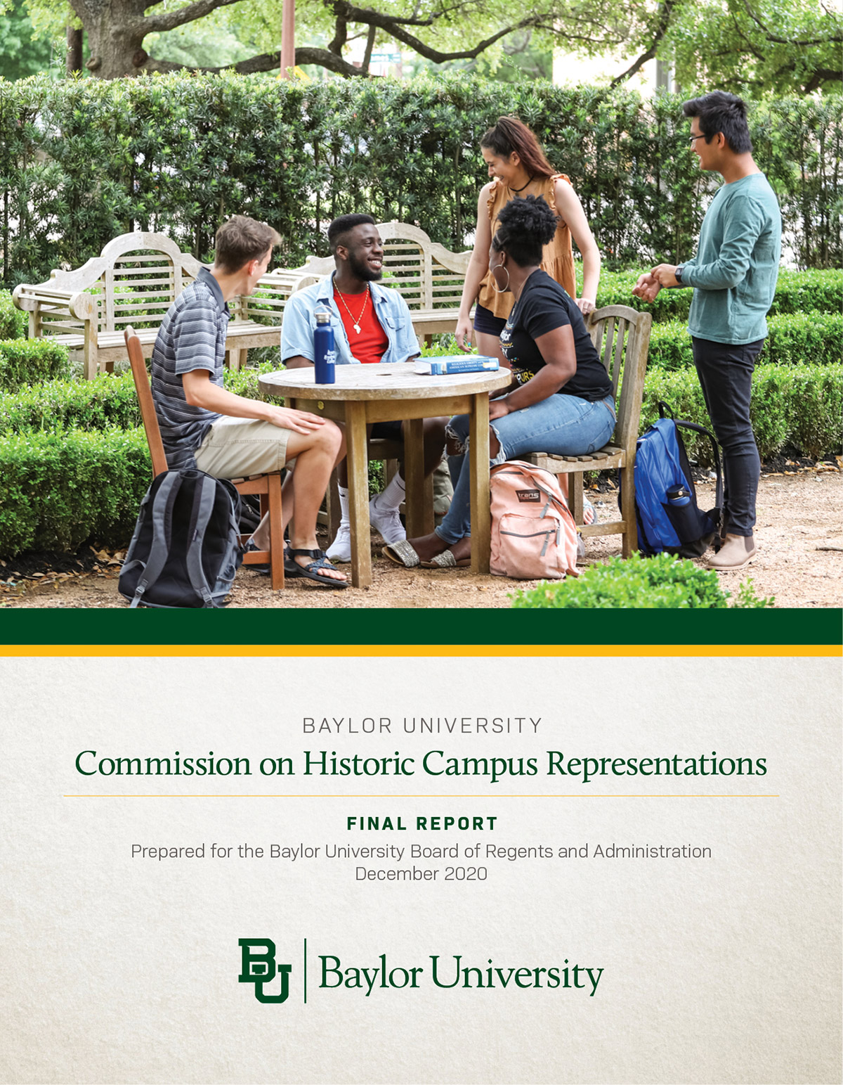 Cover of the Report of the Commission on Historic Campus Representations
