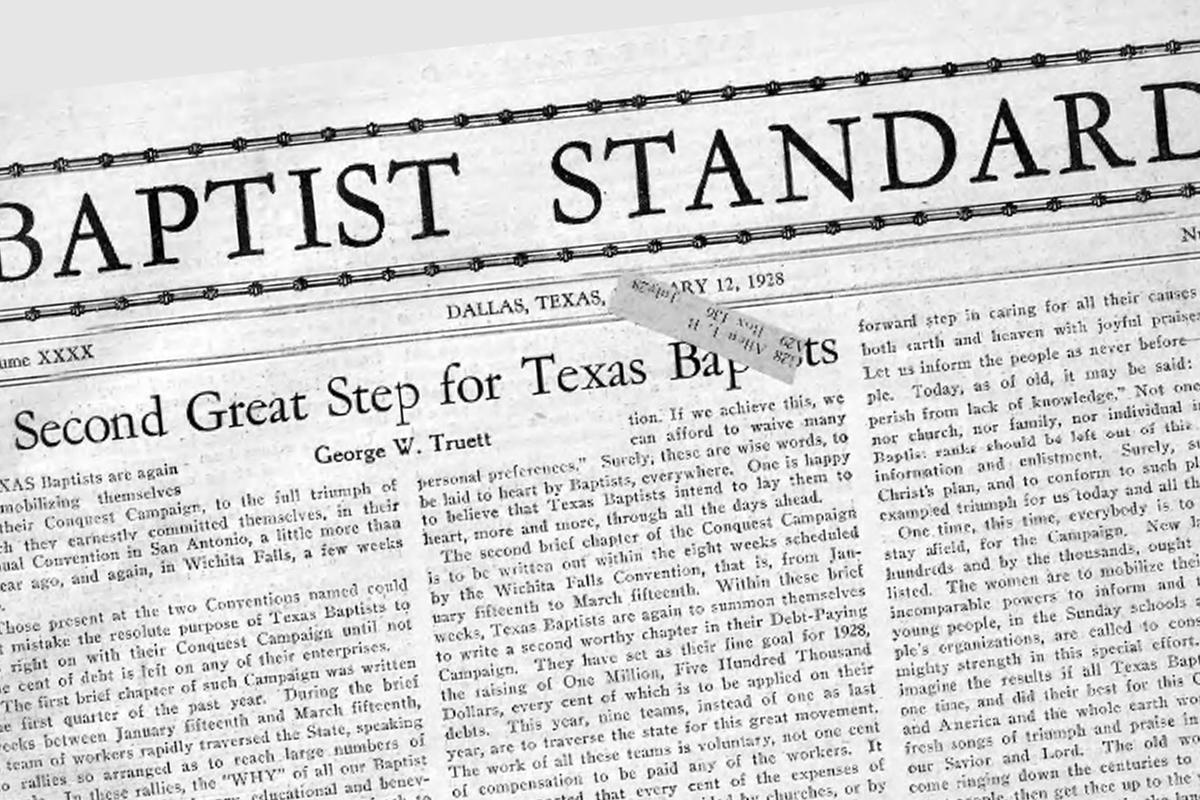 Baptist Standard Header