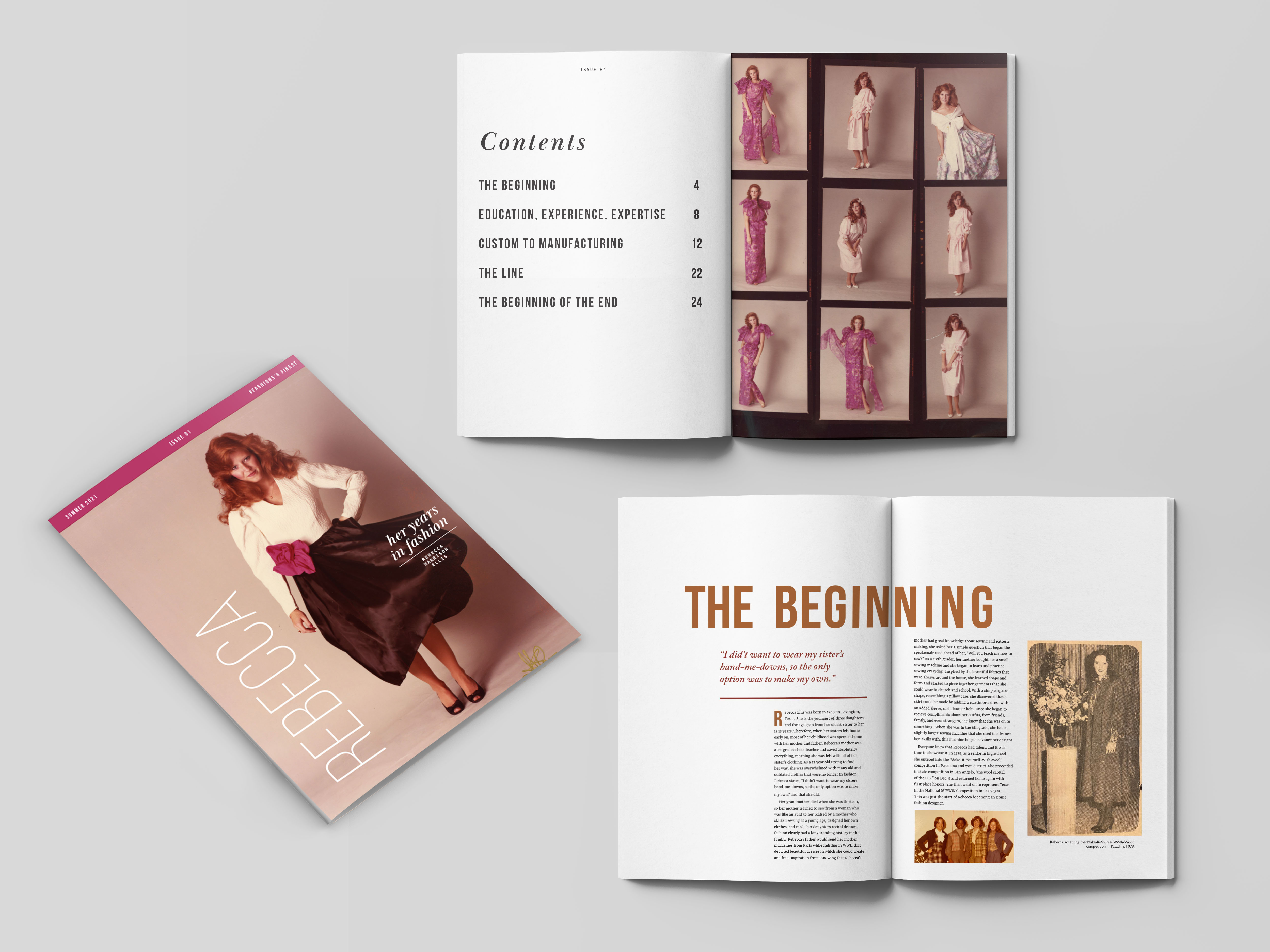 Catherine Ellis, Rebecca, Publication Design, Spring 2021