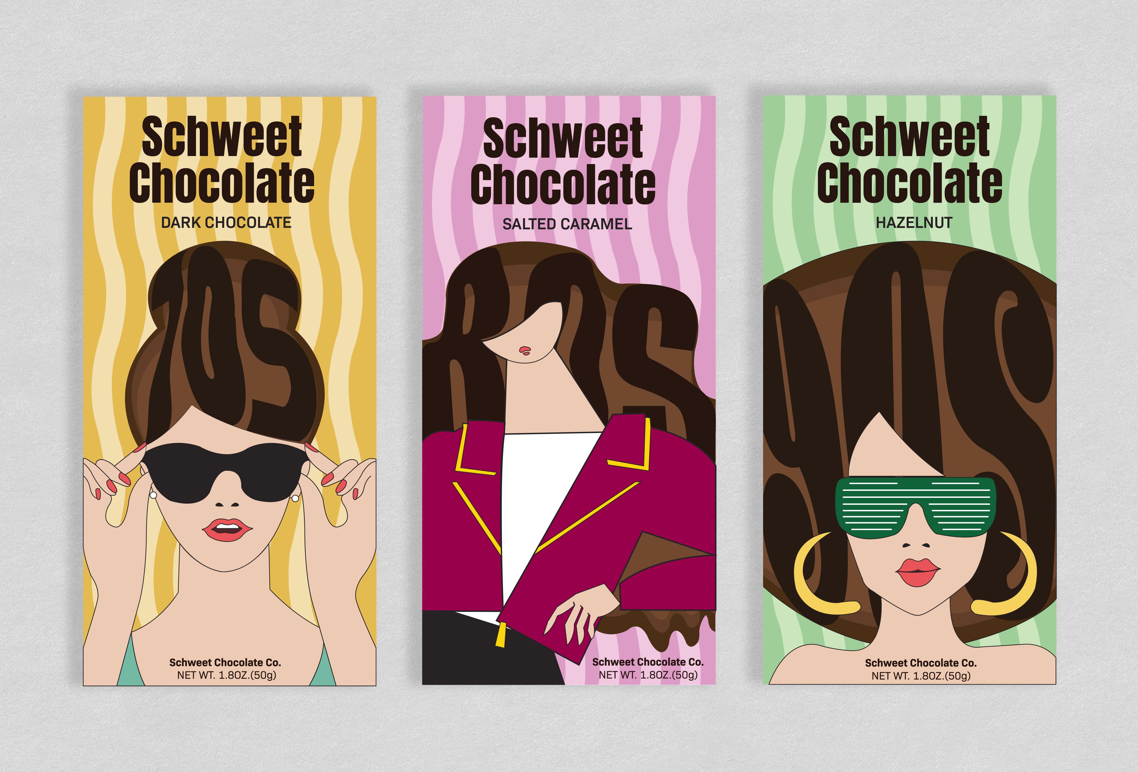 Megan Winters, Schweet Chocolate Bars, Adobe Illustrator, Spring 2020