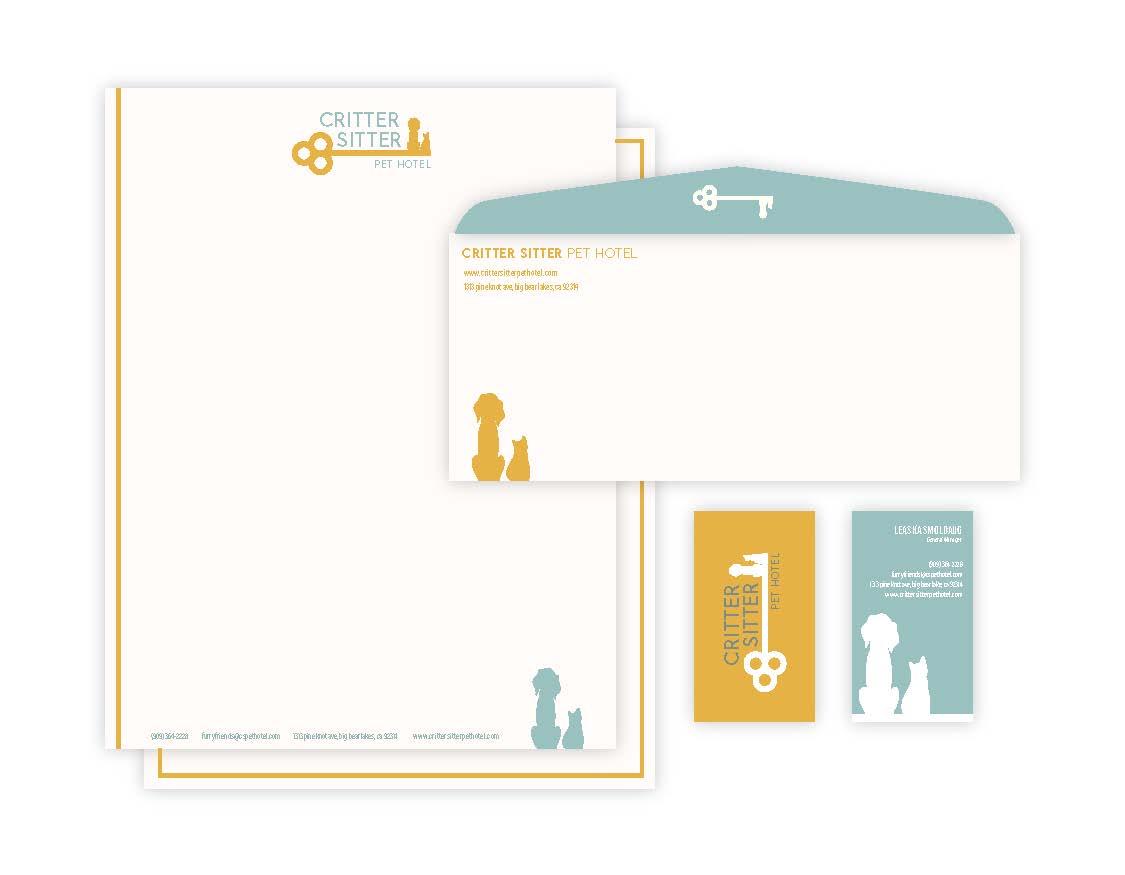 Carter Bruey, Critter Sitter Pet Hotel, Graphic Design, Fall 2020