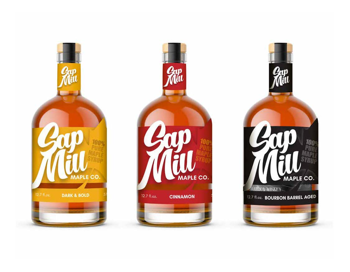 Carter Bruey, Sap Mill Maple Co., Package Design, Spring 2021