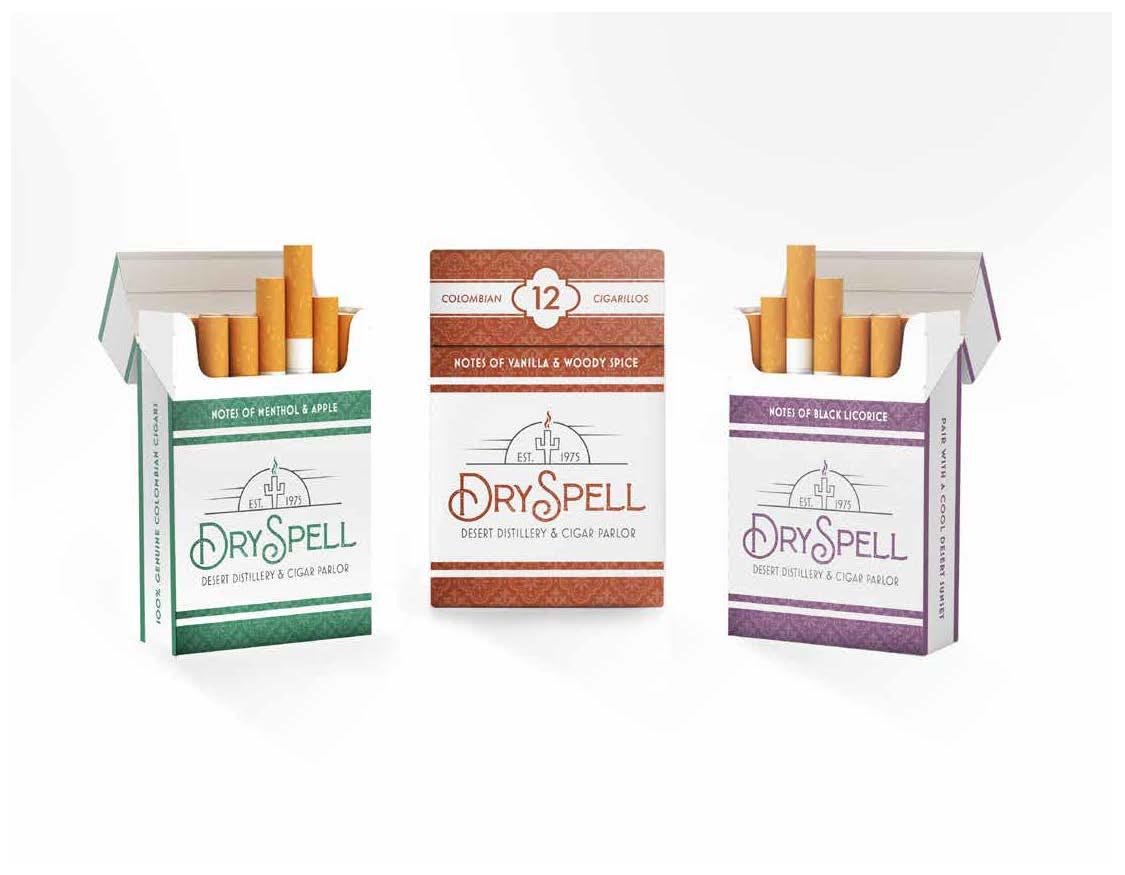 Carter Bruey, DrySpell Cigarillos, Package Design, Spring 2021