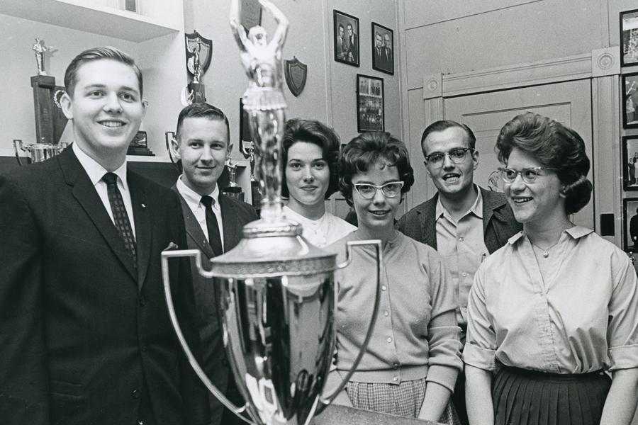 Baylor's debate team in 1963