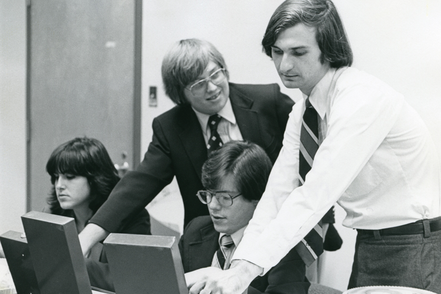 Baylor debaters from the 1970s and 1980s, when the University won three national championships.