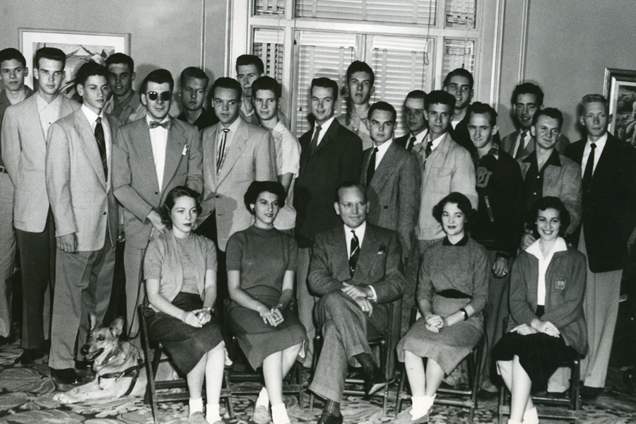 Baylor's 1953 debate team contained future Texas Governor Ann Richards (far left on front row).