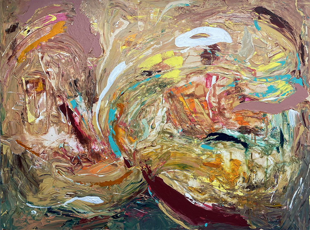 Sarah Willis, Fireproof, February 2021, Acrylic on Canvas, 30 x 40