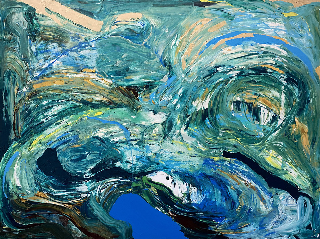 Sarah Willis, The Tide, March 2021, Acrylic on Canvas, 36 x 48