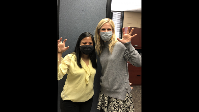Ayra Hammon and Advisor Dr. Lacy McNamee