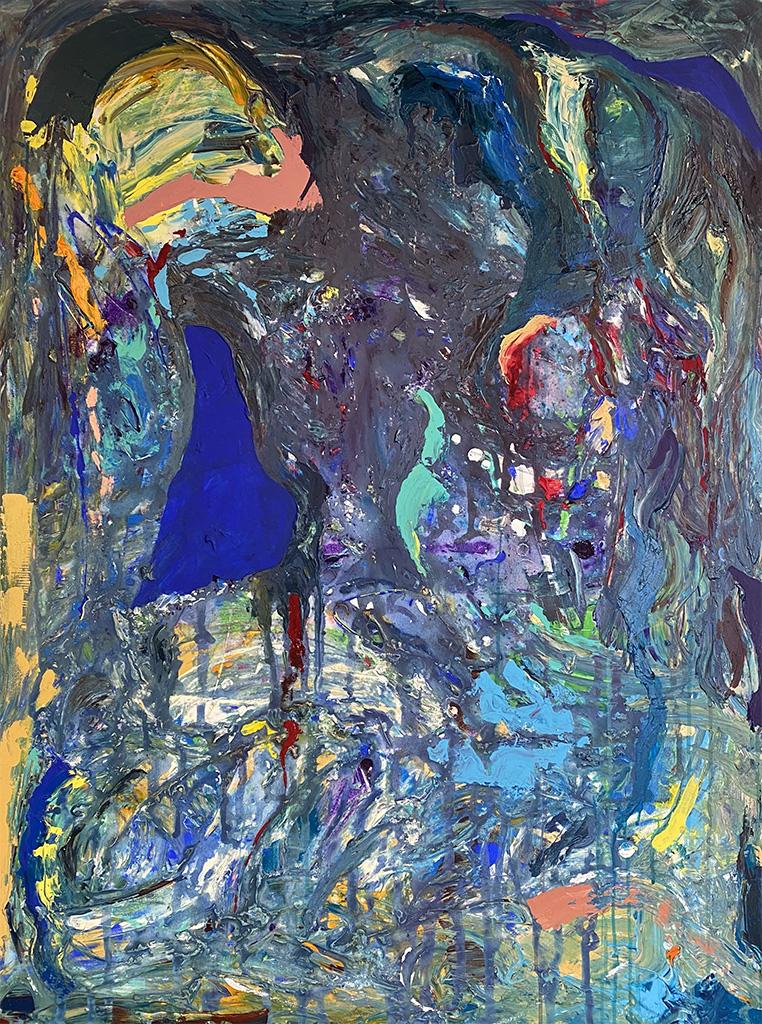 Sarah Willis, Acid Rain, Acrylic on Canvas, March 2021, 48 x 36