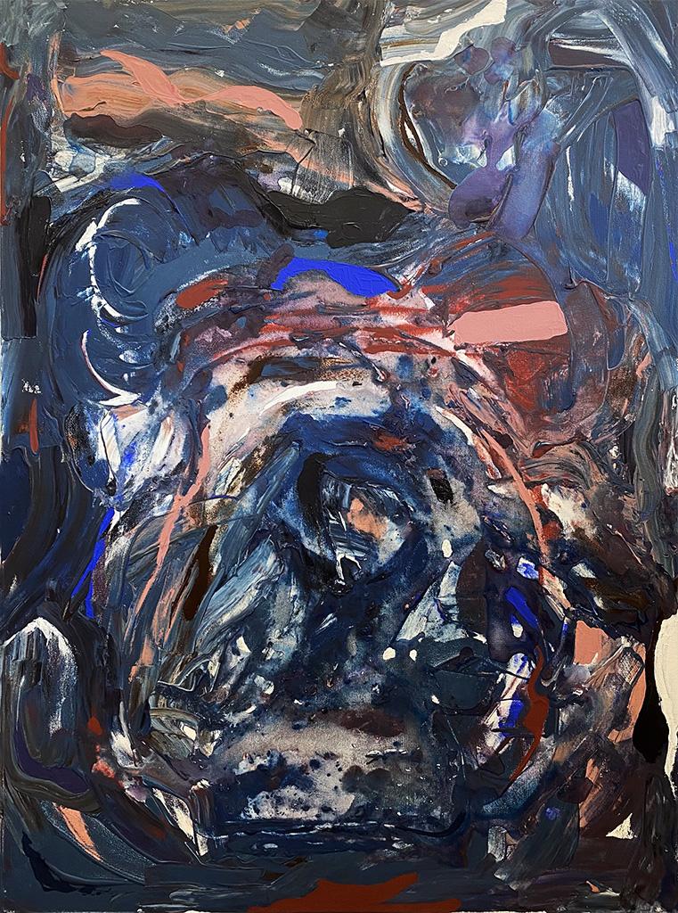 Sarah Willis, Fine Line, Acrylic on Canvas, April 2021, 40 x 30