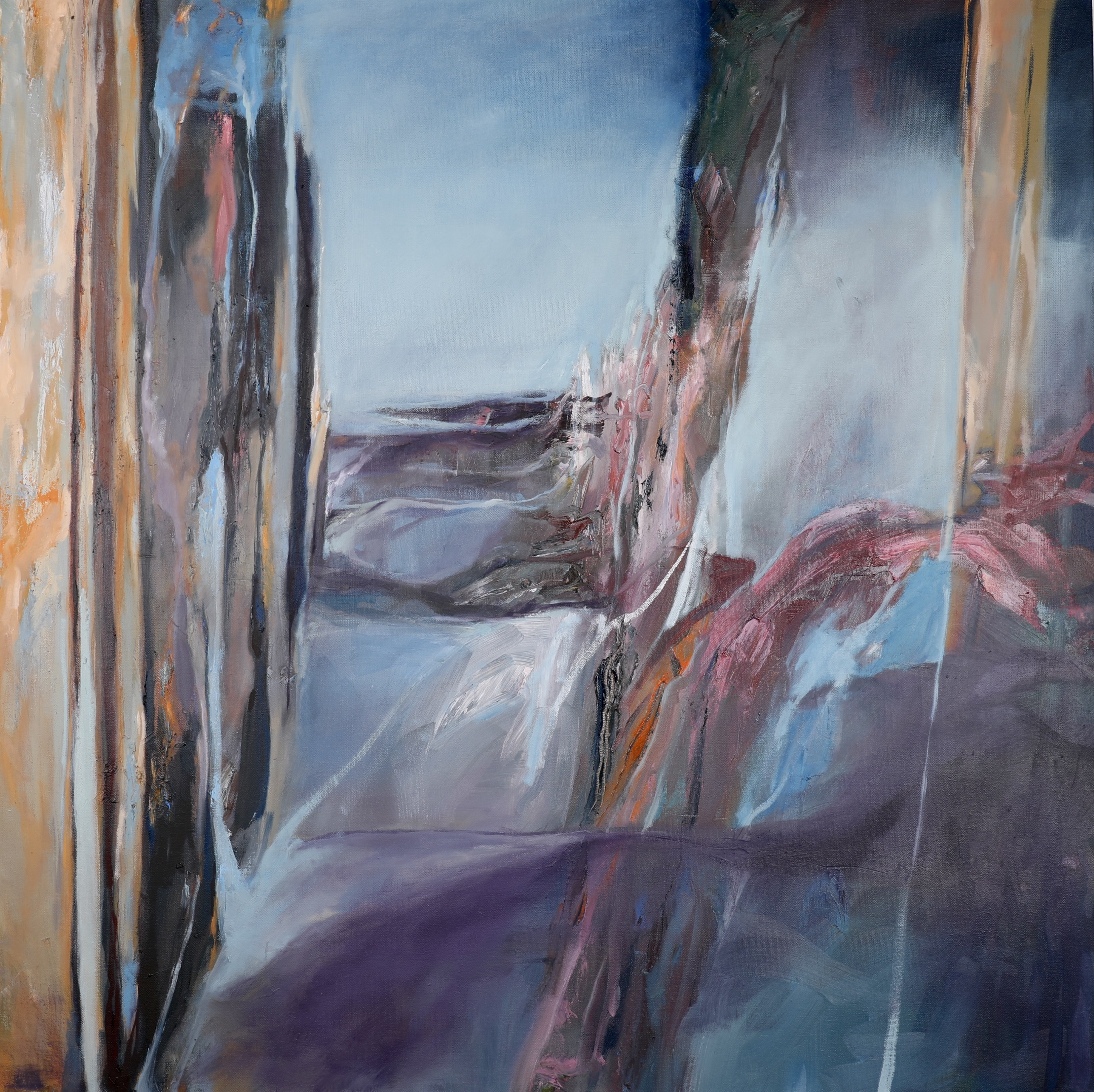 Chenxi Gao, The Way Out, Oil on Canvas, September 2020, 36 x 36