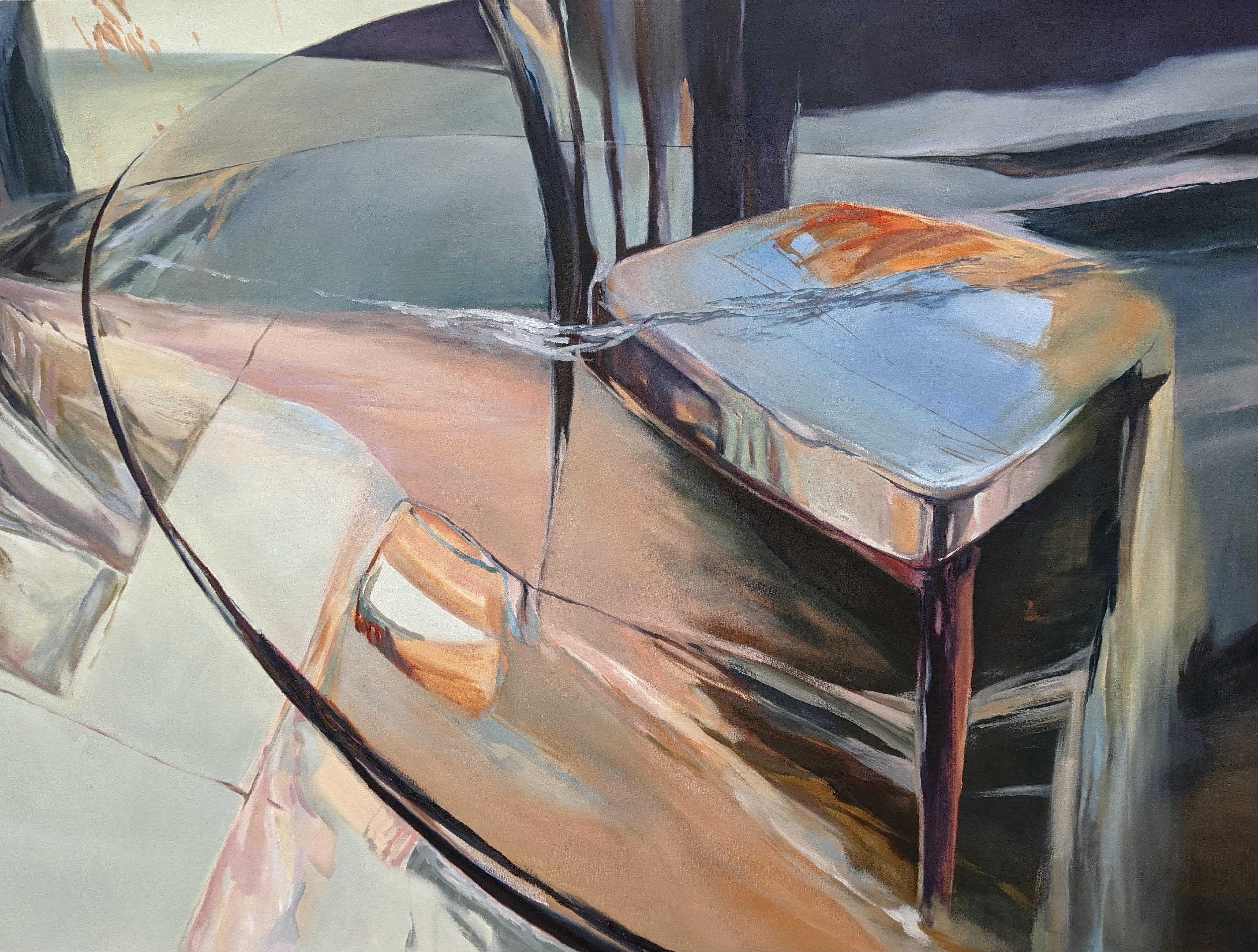 Chenxi Gao, Wind, Oil on Canvas, April 2021, 45 x 60