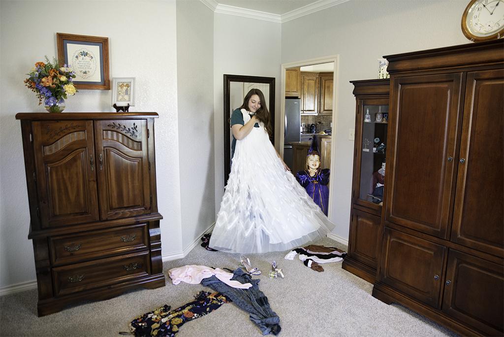 Samantha Raleigh, Samantha Playing Dress Up, Archival Inkjet Print, April 2021, 24 x 26
