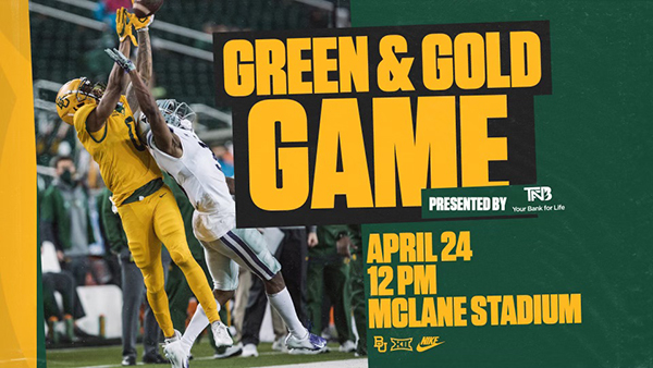 Green and Gold Game Ad