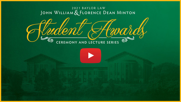 Banner button to view the student awards