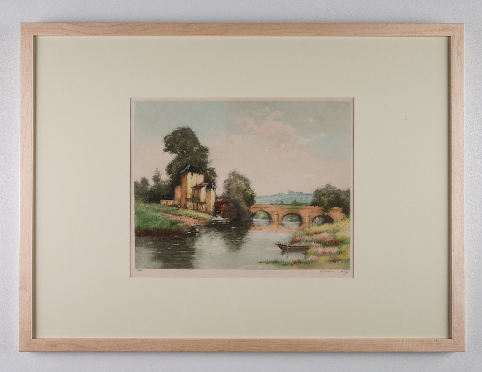 Maurice Levis, Vieux Moulin (The Old Mill), Etching, 14.5in. x 18in., Late 19th century